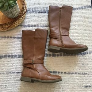 Children's place brown tall riding boots size 1